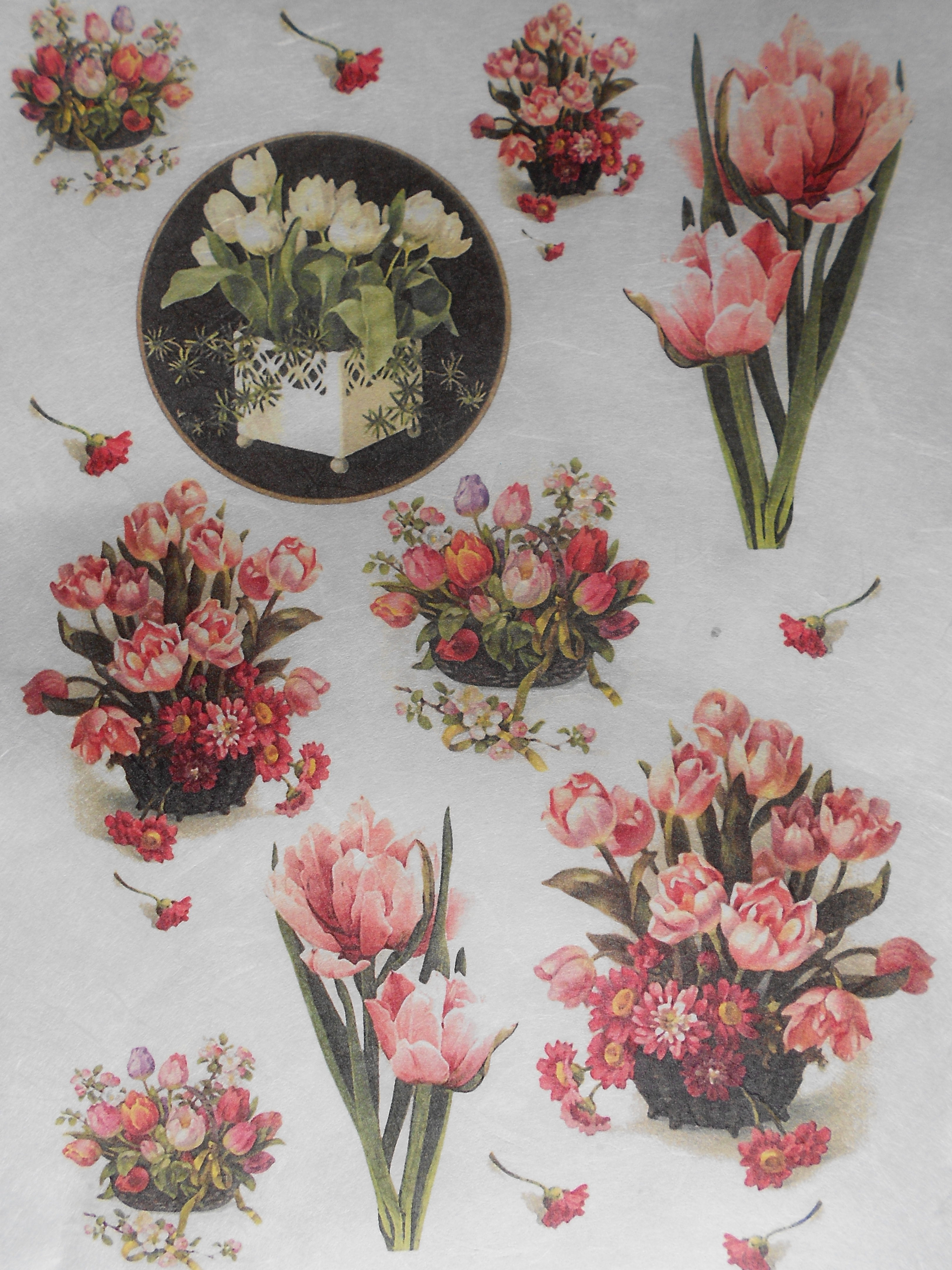 Tulips Spring Flowers Rice Paper For Decoupage Decoupage