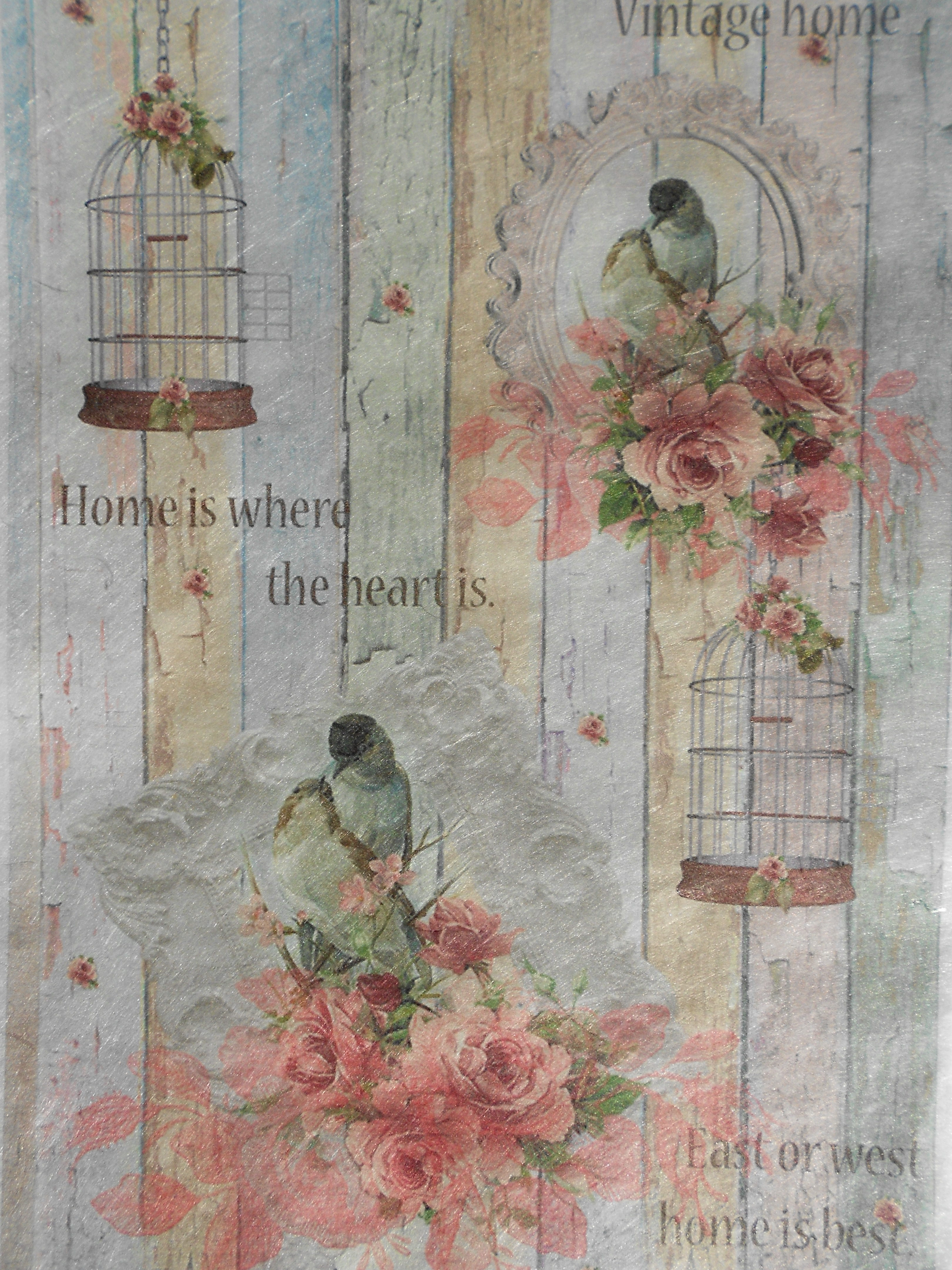 Birds Cage Home Is Best Decoupage Rice Paper Decoupage Paper