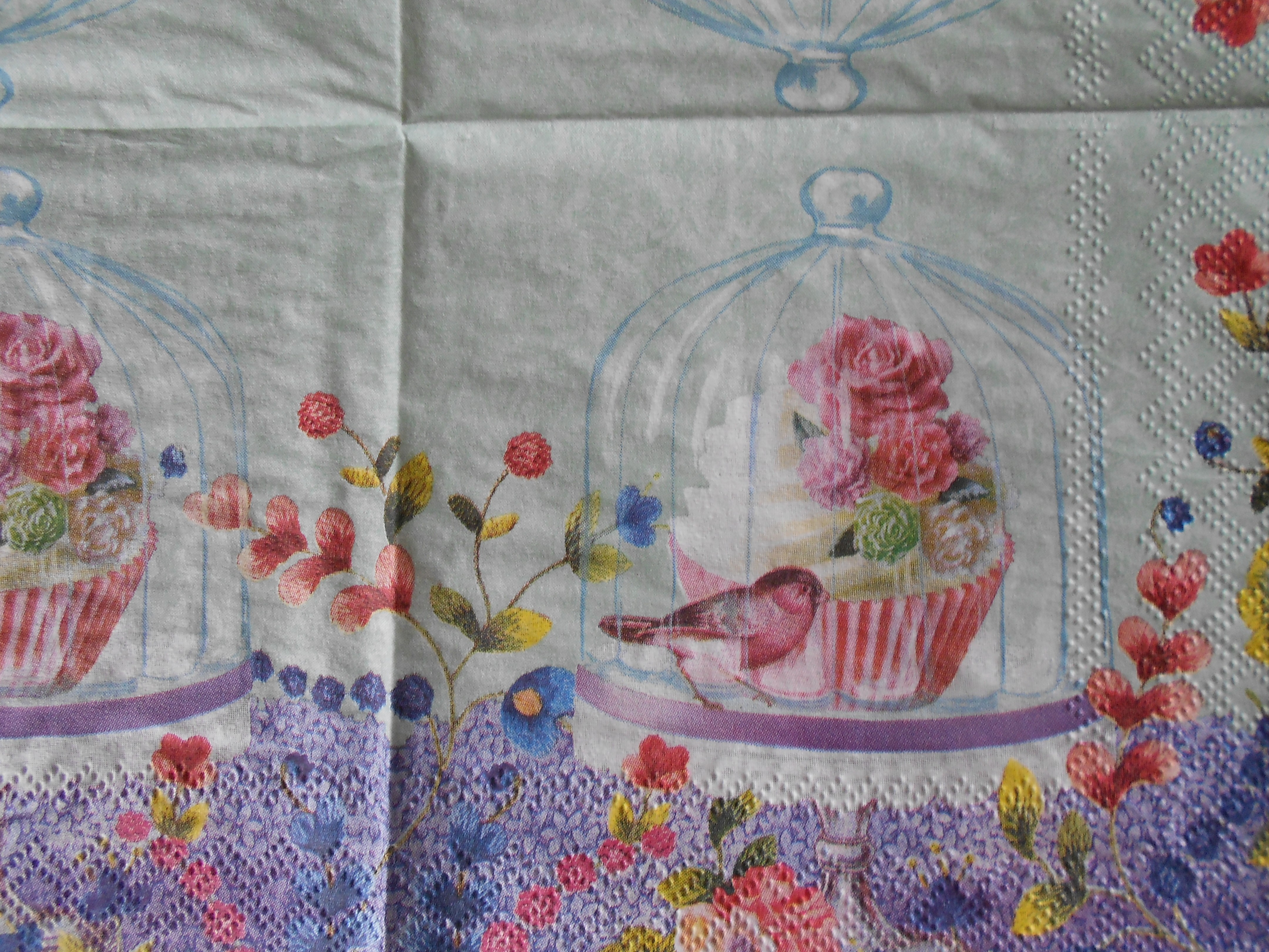 Bird Under Glass Cupcake Decoupage Napkins Decoupage Paper